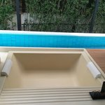 Private Jacuzzi and Private pool in the villa