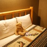 A cute welcome on our bed upon arrival at the Inn!