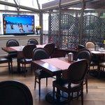 Patio-like dining area