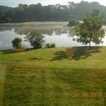 view from from porch looking at the lake