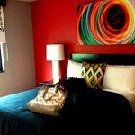 My comfy bed for the evening. (Love the colors & decor).