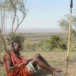 Maasai warrior resting
