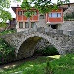 Charming village scene in Koprivshtitsa, Bulgaria