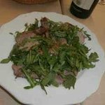 Roast veal with rocket