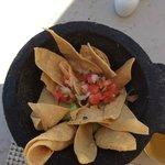 Chips, salsa and guacamole at Pelicano's