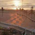 Sunrise over the beachfront