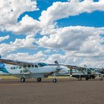 Some of our fleet of Cessna 208 Turboprop aircraft.  We have the youngest fleet in the region wi