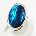 Blue Abalone Karina Ring from the Senalice Jewellery Range