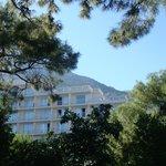 Вид на отель с территории