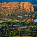 Avair passing the mighty Elephant Rock along the Ord River