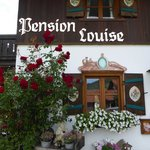 Seitenfront der Pension