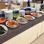 Buffet di verdure ed antipasti