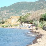 strandje behorende bij het resort