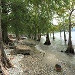 Private lake shore