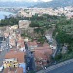 View from balcony over Sorrento