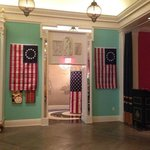 lobby decorated for 4th