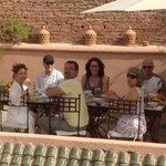 petits déjeuners sur le toit terrasse