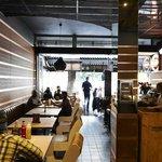 Interiors inside Kloof street Hudsons the burger joint
