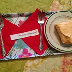 We found this on our bed when we returned from hiking Old Rag. Delish!
