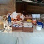 Una parte del buffet della colazione
