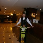 With Omer in Hotel Lobby.