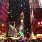 NYE Ball Drop Outside Applebees Times Square