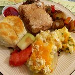 Selections from the Saturday buffet