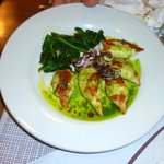 Seppioline alla piastra con salsa di basilico