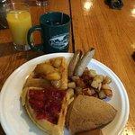 Amazing breakfast! Those scones though...