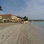 Adjacent beach next to hotel
