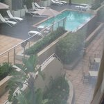 View from room of pool area