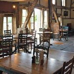 Cider Barn interior and doors to outside seating area