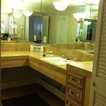 Bathroom counter area