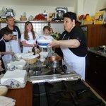 Chiara cooking
