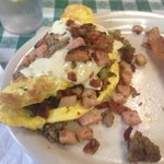 Meat omelette was superb.