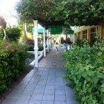 Walkway/outside dining area outside of Pool