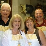 Cooking class together at villa