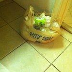 Homemade trash can