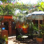 Beautiful courtyard at Hostal Casa del Sol