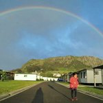 My daughter under the rainbow at the Nutnof Stanley