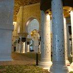 inside the main prayer hall