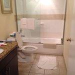Nice bathroom big and roomy.