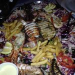 seafood plate for two at Poseidon