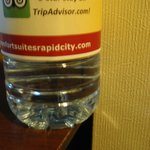 water bottle with custom label