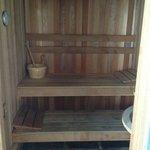 Private sauna in ocean villas