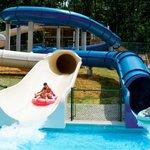 Fiberglass Water Slides at Santa's Splash Down WaterPark
