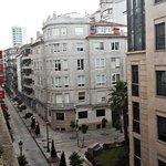 Vista a la calle del hotel