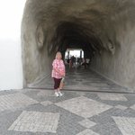 the tunnel in the old town which leads to the beach and more resturants
