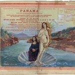 Mona Lisa con la Venus de Botticelli cruzando el Canal de Panamá por Pascual Rudas