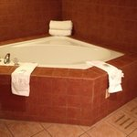 Jacuzzi tub in hotel room at the Avi